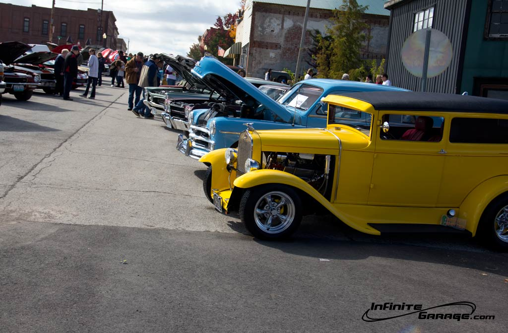 up the hill of hot rods