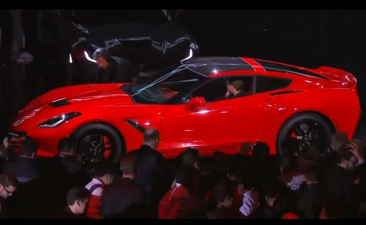 side shot of Corvette Stingray