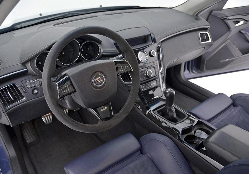 CTS V Stealth Blue interior