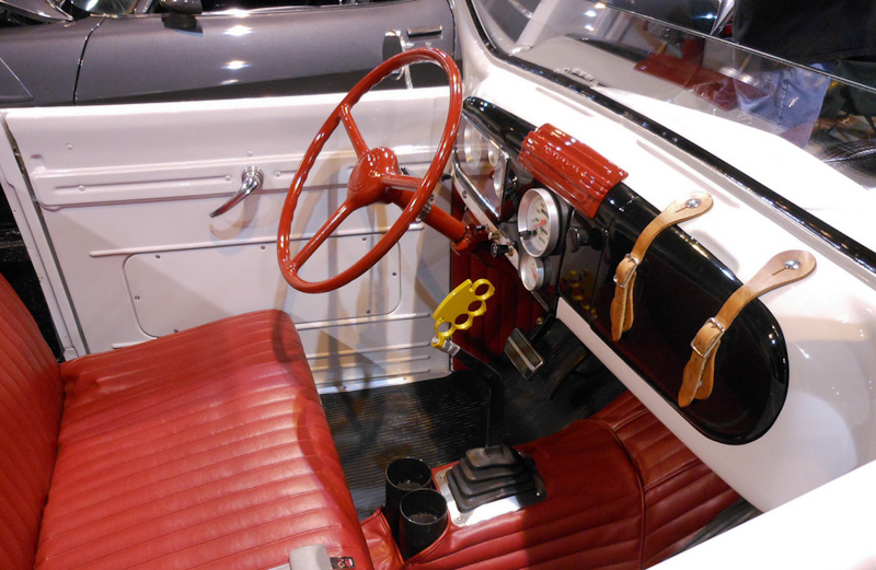 interior of Chevy Roadster