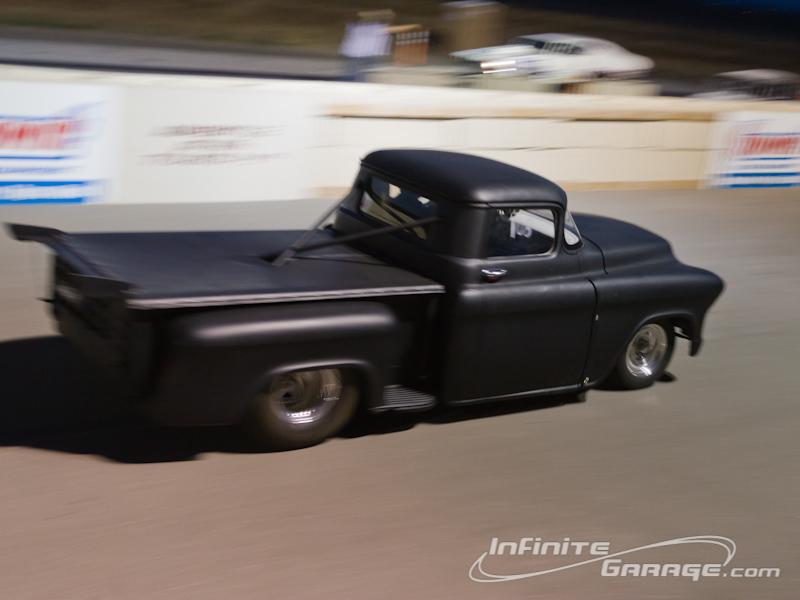 Black Chevy drag truck