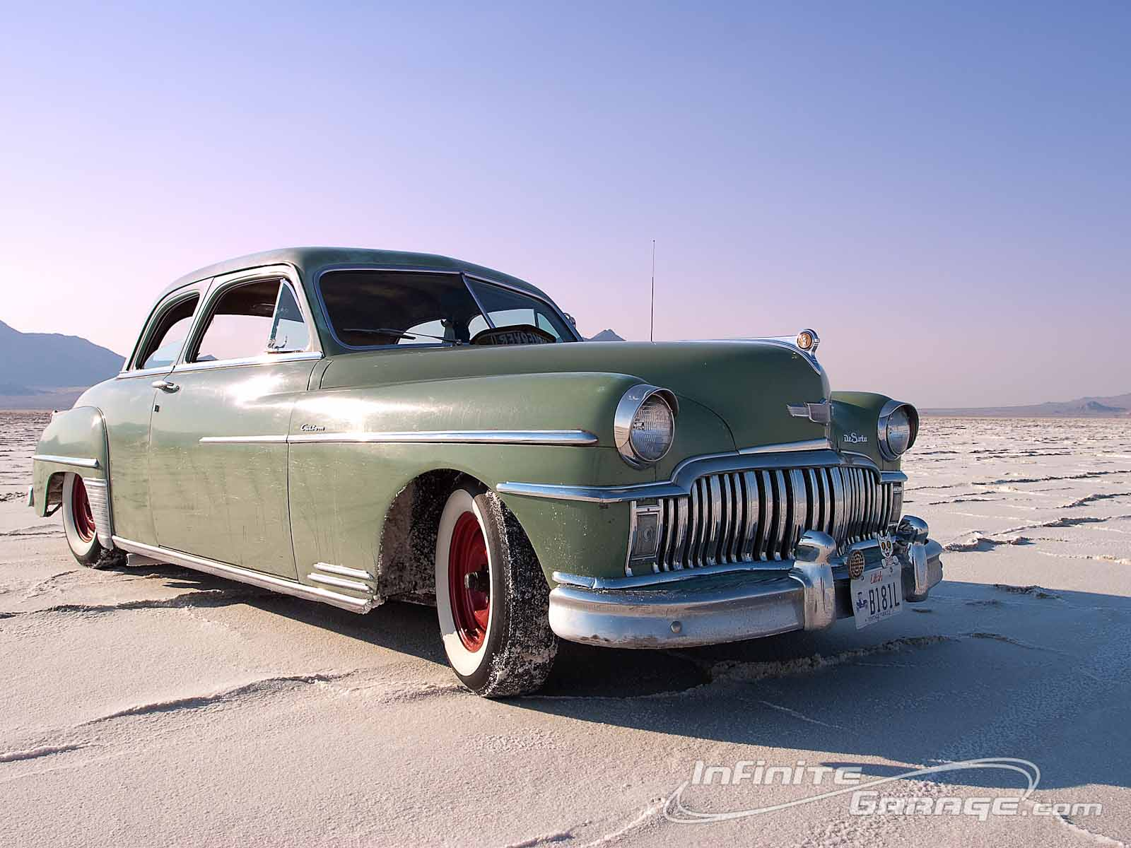 Green 1949 DeSoto Wallpaper