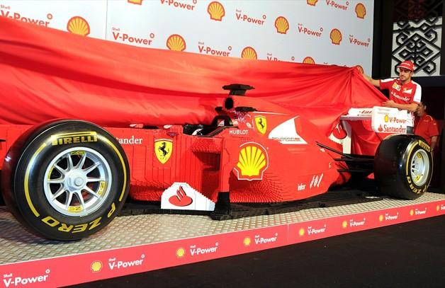 Ferrari built with legos