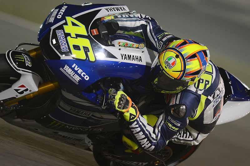 Valentino Rossi at MotoGP Qatar 2013
