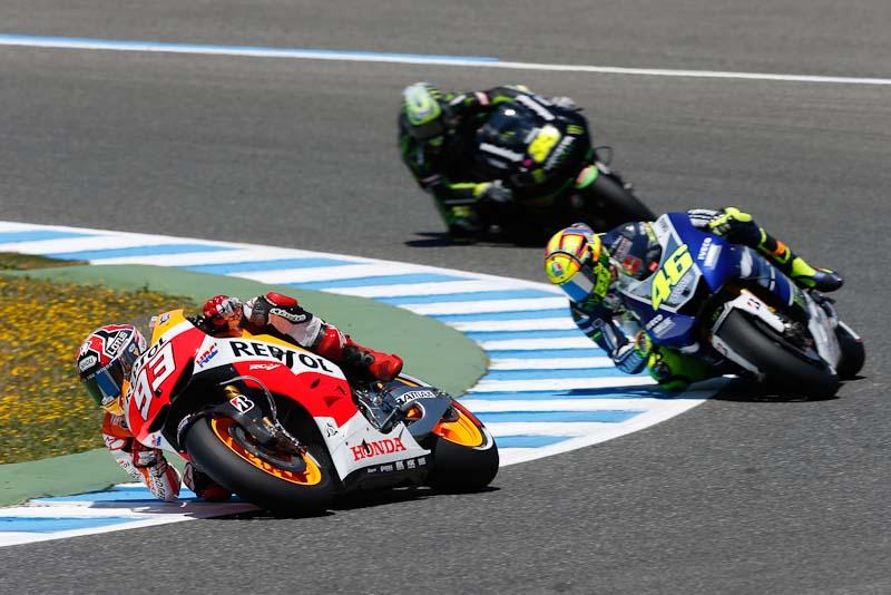 Marquez and Rossi MotoGP 2013 Jerez