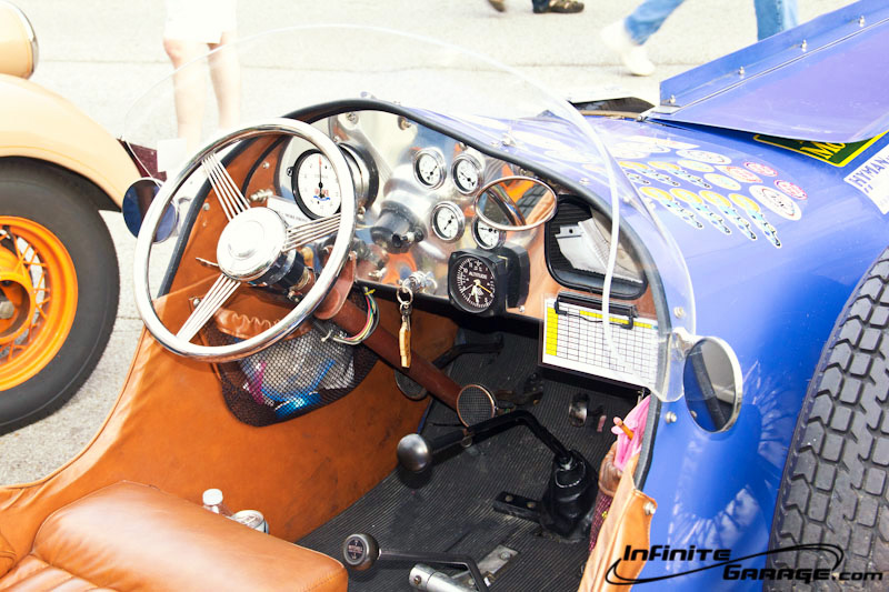 cockpit of ford boat tail racer