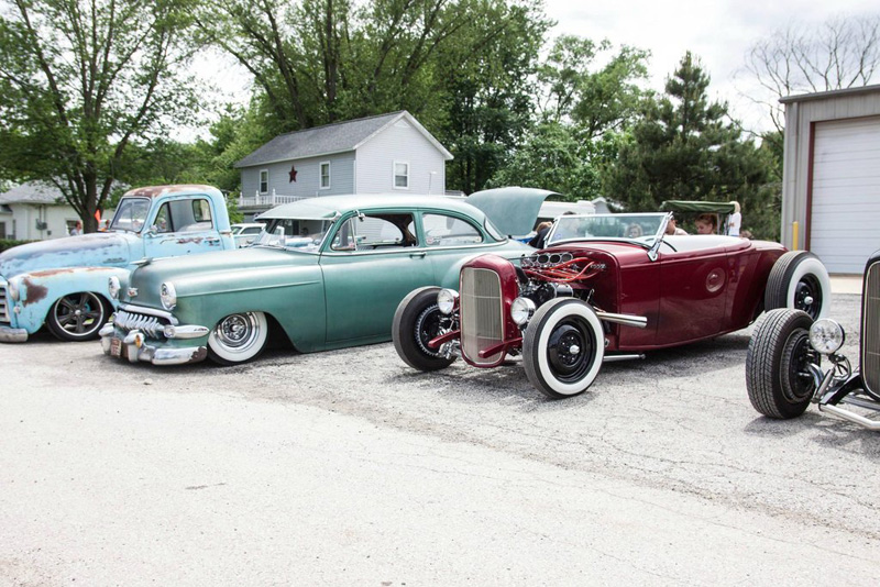 white walls and rat rods